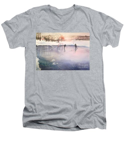 Playing On Ice Men's V-Neck T-Shirt