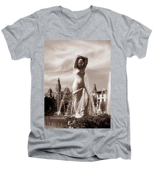 Plaza Cataluna Men's V-Neck T-Shirt