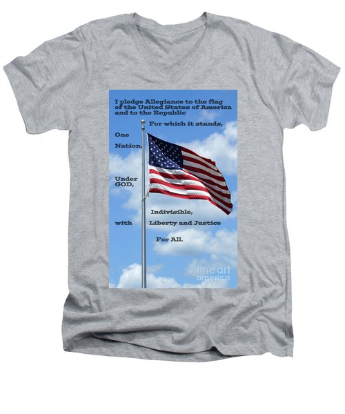 Pledge Of Allegiance Men's V-Neck T-Shirt