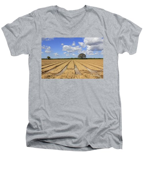Ploughed Field Men's V-Neck T-Shirt
