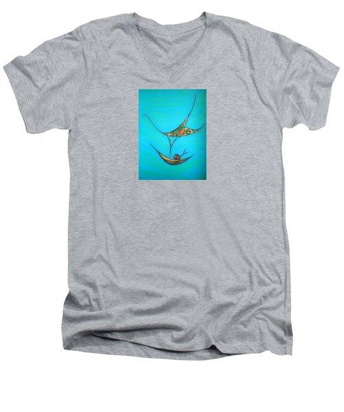 Pneuma Men's V-Neck T-Shirt by Robert Nickologianis