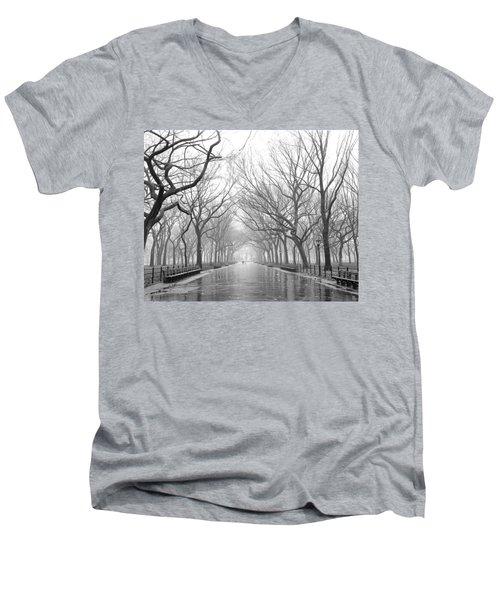 New York City - Poets Walk Central Park Men's V-Neck T-Shirt