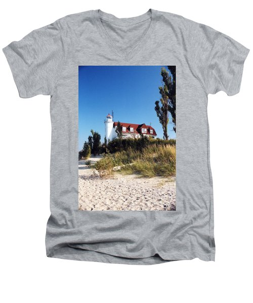 Point Betsie Lighthouse Men's V-Neck T-Shirt