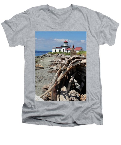 Men's V-Neck T-Shirt featuring the photograph Point In View by Natalie Ortiz
