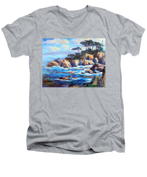 Point Lobos Men's V-Neck T-Shirt