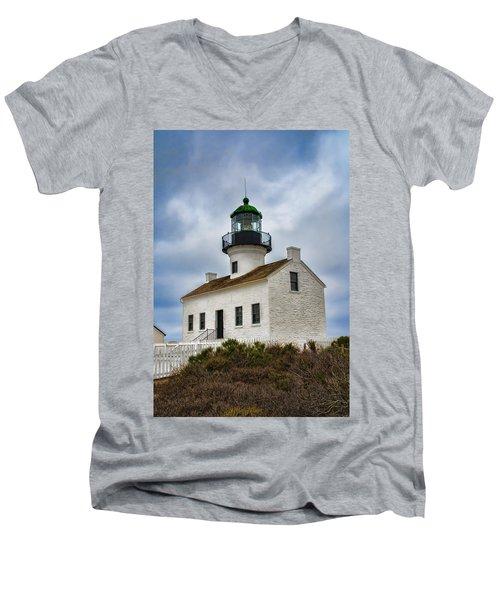 Point Loma Lighthouse Men's V-Neck T-Shirt
