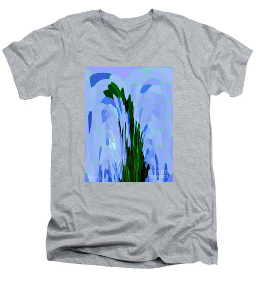 Men's V-Neck T-Shirt featuring the digital art Point Of View by Mariarosa Rockefeller