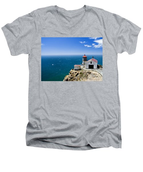 Point Reyes Lighthouse California Men's V-Neck T-Shirt