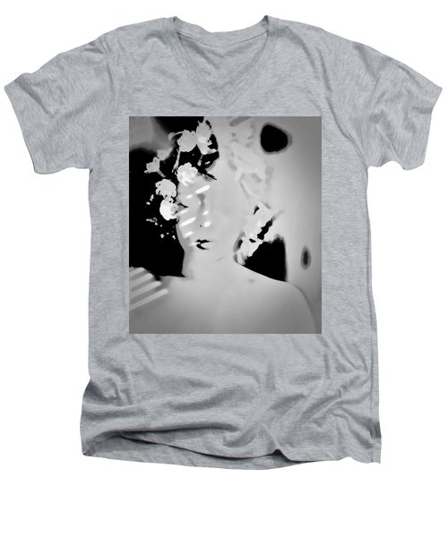 Men's V-Neck T-Shirt featuring the photograph Poise by Jessica Shelton