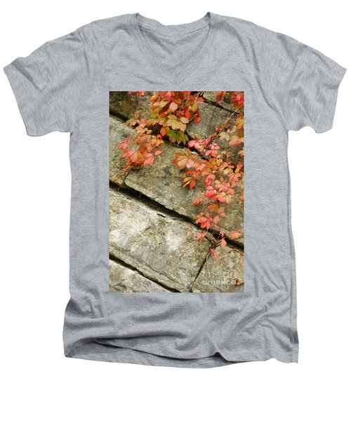 Men's V-Neck T-Shirt featuring the photograph Poison Ivy by Mary Carol Story