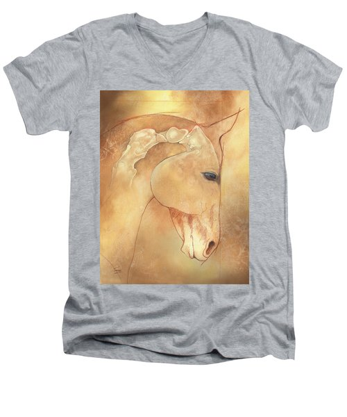 Poll Meet Atlas Axis Men's V-Neck T-Shirt by Catherine Twomey