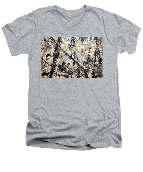 Pollock's Name On Lavendar Mist Men's V-Neck T-Shirt
