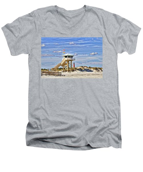 Ponce Inlet Scenic Men's V-Neck T-Shirt