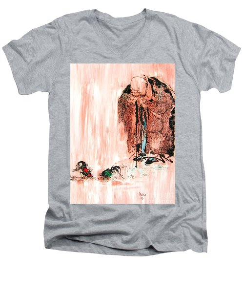 Pondering Aggression Men's V-Neck T-Shirt