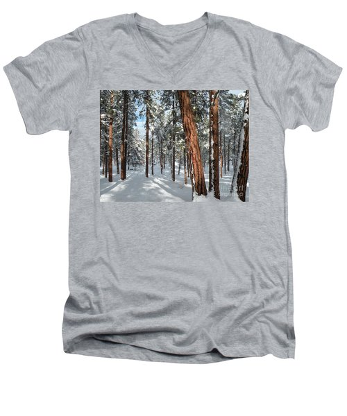 Ponderosa Winter Men's V-Neck T-Shirt
