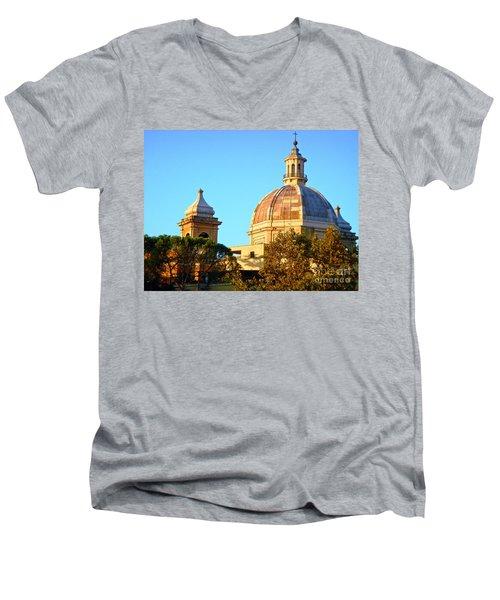 Ponte Milvio Roma Men's V-Neck T-Shirt