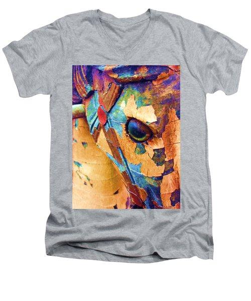 Pony Men's V-Neck T-Shirt by Julio Lopez