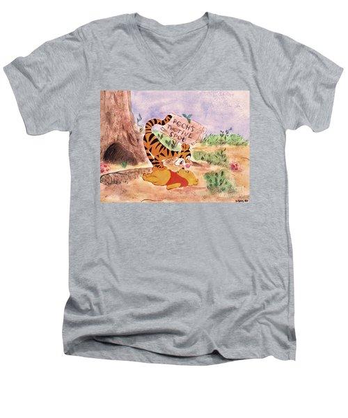 Pooh Bear Got Bounced Men's V-Neck T-Shirt