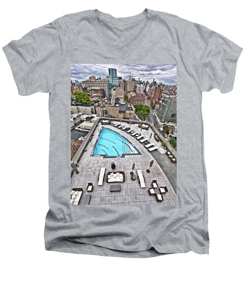 Pool With A View Men's V-Neck T-Shirt
