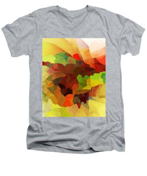 Men's V-Neck T-Shirt featuring the digital art Popago by David Lane