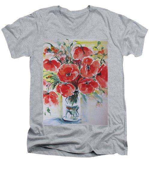 Poppies Iv Men's V-Neck T-Shirt