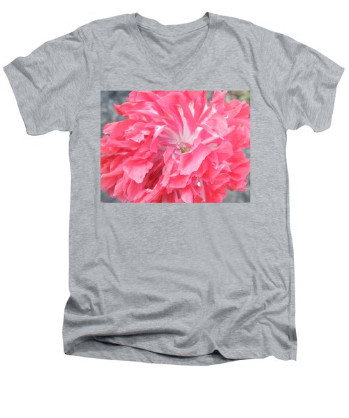Popping Pink Men's V-Neck T-Shirt