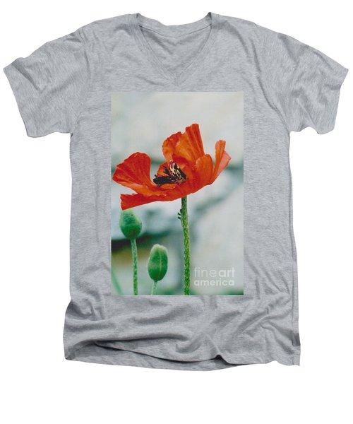 Poppy - 1 Men's V-Neck T-Shirt