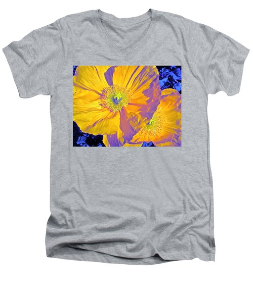 Poppy 14 Men's V-Neck T-Shirt