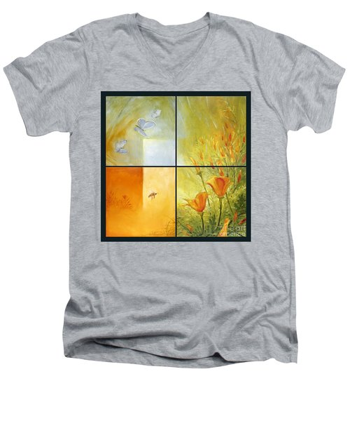 Poppy Pollination Men's V-Neck T-Shirt