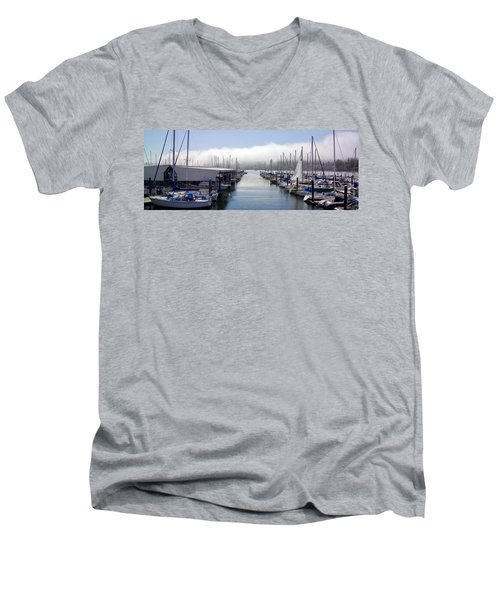 Men's V-Neck T-Shirt featuring the photograph Port Kingston Marina by Greg Reed