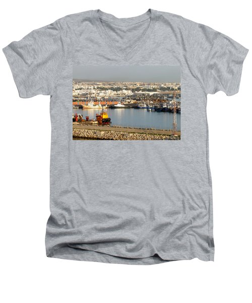 Port Of Agadir Morocco 1 Men's V-Neck T-Shirt
