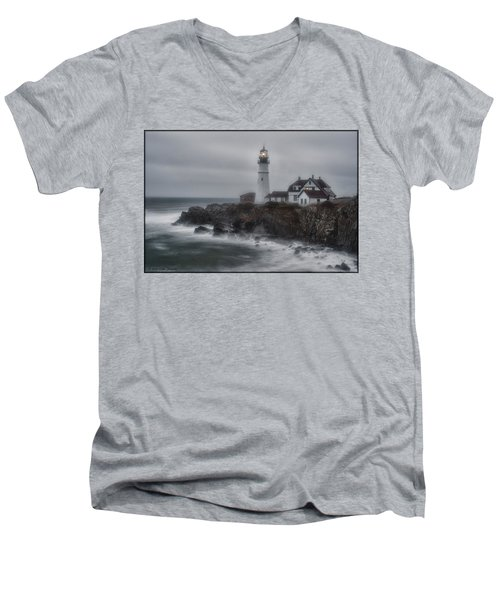 Portland Head Nor'easter Men's V-Neck T-Shirt