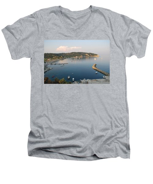 Men's V-Neck T-Shirt featuring the photograph Porto Bay by George Katechis