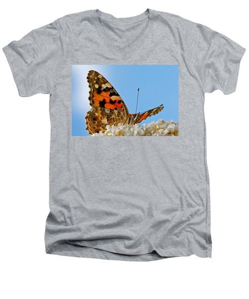 Portrait Of A Butterfly Men's V-Neck T-Shirt