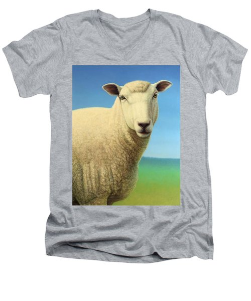 Portrait Of A Sheep Men's V-Neck T-Shirt