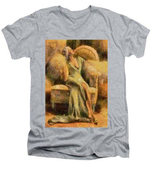 Portrait Of Jean Harlow Men's V-Neck T-Shirt