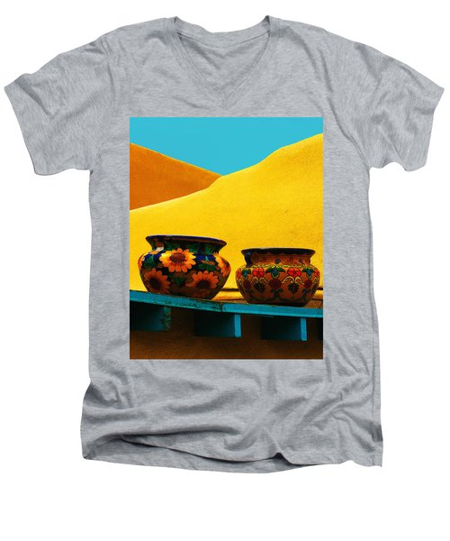 Portrait Of Taos Men's V-Neck T-Shirt
