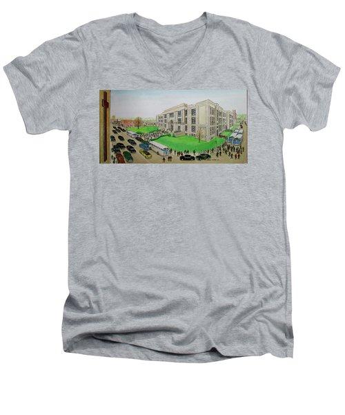 Portsmouth Trojans Travel To An Away Game Men's V-Neck T-Shirt
