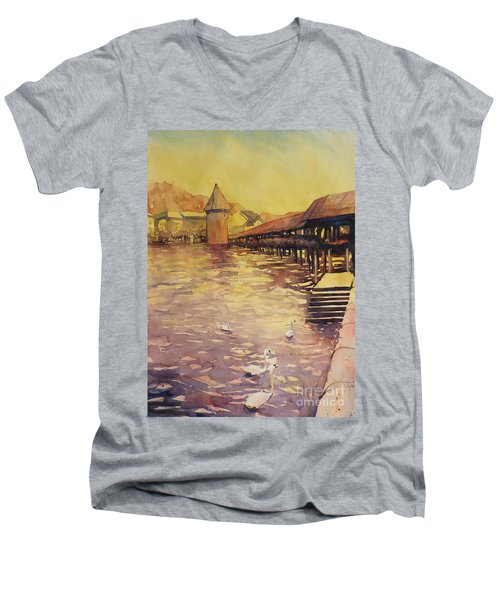 Posing For Tourists Men's V-Neck T-Shirt