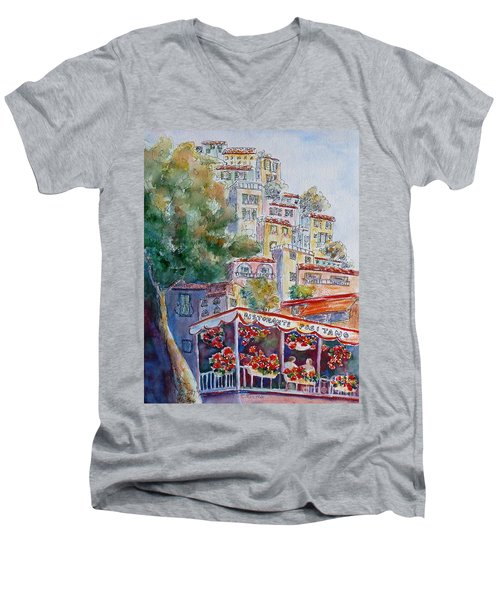 Positano Restaurant Men's V-Neck T-Shirt