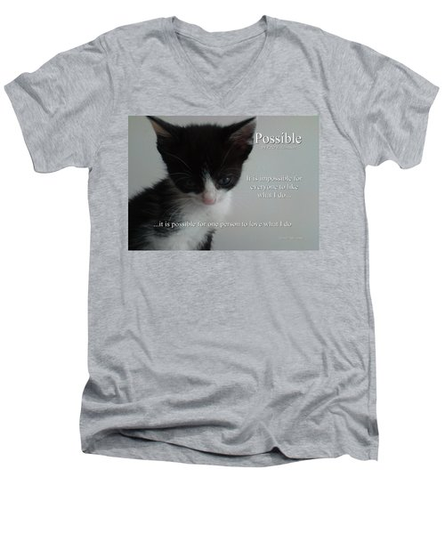 Possible Men's V-Neck T-Shirt