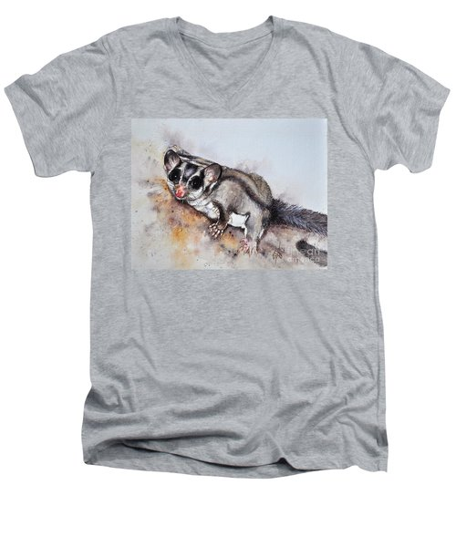 Possum Cute Sugar Glider Men's V-Neck T-Shirt