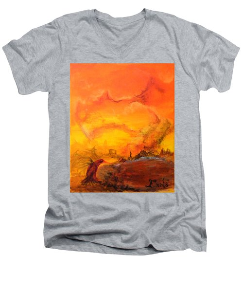 Post Nuclear Watering Hole Men's V-Neck T-Shirt