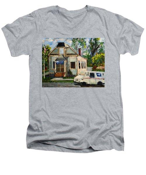 Post Office At Lafeyette Nj Men's V-Neck T-Shirt
