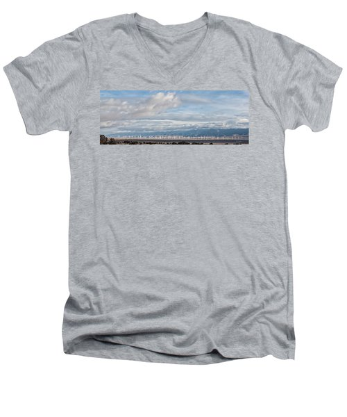 Power From The Wind In Western Skies Men's V-Neck T-Shirt by Michael Flood