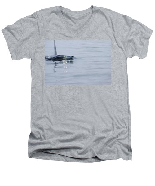 Men's V-Neck T-Shirt featuring the photograph Power In Motion by Marilyn Wilson