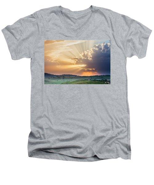 Powerful Sunbeams Men's V-Neck T-Shirt