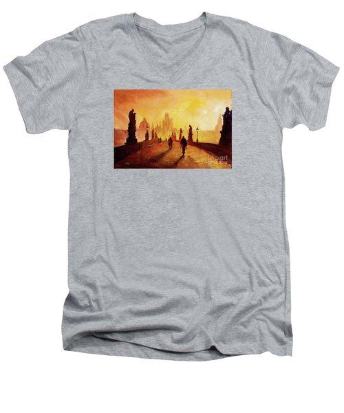 Prague Sunrise Men's V-Neck T-Shirt