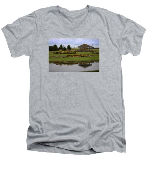 Men's V-Neck T-Shirt featuring the photograph Prairie Arboretum  by Rebecca Davis