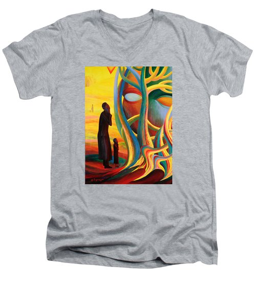 Prayers At The Tree Of Life Men's V-Neck T-Shirt